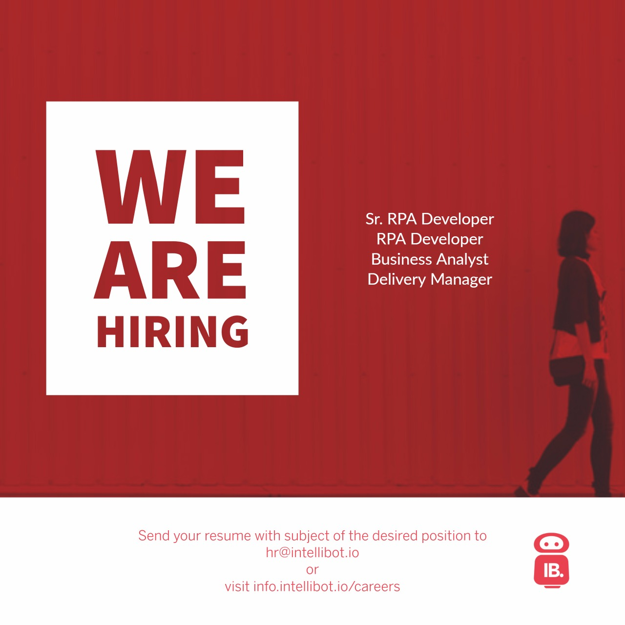 Job : RPA Developer-Intellibot- Hyderabad, IN - RPA Tools